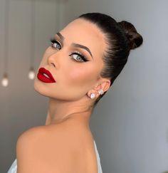 Makeup 101, Red Makeup, Makeup Goals, Glam Makeup, Makeup Trends, Beauty Makeup, Hair Makeup, Elegant Makeup, Gorgeous Makeup
