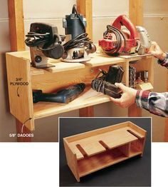 Power tool storage, Tool storage and Power tools on Pinterest