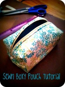 Sewn Boxy PouchTutorial - Better than the Cheaply made $8+ make-up or bathroom bags at the store