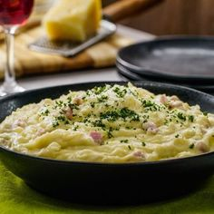 Mashed Potato with Ham Mexican Food Recipes, Ethnic Recipes, Great Recipes, Ham, Risotto, Potato Salad, Mashed Potatoes, Macaroni And Cheese, Side Dishes