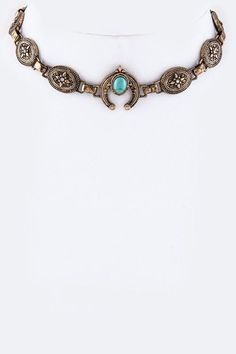 Hinged Conchos Choker (Multiple Colors)
