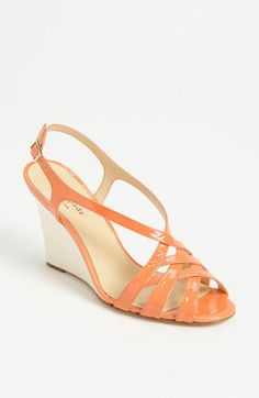 kate spade new york illie wedge sandal available at #Nordstrom  comes in nude too