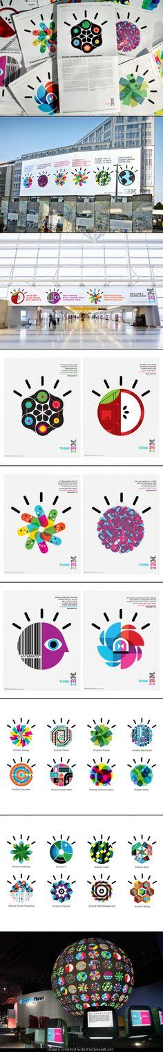 IBM / Designing a Smarter Planet  조잡스러운데 색 달라보임