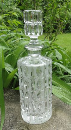 Beautiful Crystal Liquour Decanter by Cosasraras on Etsy, $35.00