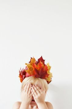 Autumn is the perfect time to get creative with nature's pretty palette. Here are 13 leaf crafts you and the kids will love to make. Autumn Crafts, Nature Crafts, Autumn Fairy, Leaf Crown, Flower Crown, Beauty Butterflies, Gold Leaf Headband, Art For Kids, Fall Crafts