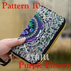 Peacock Thailand Boho Embroidered Purse Female Clutch Long Wallet Coin Bag Lady Mobile Phone Bag Luxury Brand Wallet Woman 2016