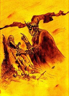 """""""I am tge Elder King: Melkor  first and mightiest of all the Valar,  who was before the world and made it. The shadow of my purpose lies upon Arda, and all that is in it bends slowly and surely to my will. But upon all whom you love my thought shall weigh as a cloud of doom, and shall bring them into despair - wherever they go, evil shall arise, whatever they do shall turn against them, they shall die without hope."""""""