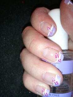Lavender French Tips Nail Art [hand-painted]