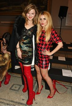 Ladies in red:Also joining the party was former Made In Chelsea star Amber Atherton who r...