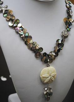 abalone colour necklace