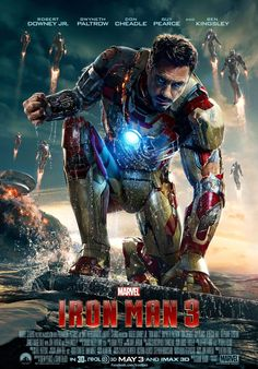 Disney's new Iron Man 3 poster has Robert Downey Jr's Iron Man ready to get some payback in the Shane Black film which opens May 3rd