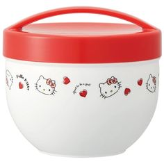 Everyone's favorite cat, Hello Kitty, is back with a brand new series that is sure to steal your heart!Product Description The Hello Kitty Lunch Bowl Best Lunch Bags, Lunch Box, Bento And Co, Rice Bowls, Safe Food, Hello Kitty, Container, Tableware, Red Hearts