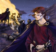 Maedhros alone stood aside by Gold_Seven