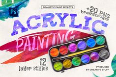 Acrylic Painting Photoshop Effects
