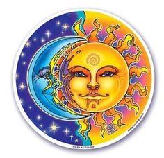 Sun Mandala Art | MANDALA ARTS - KARMA WINDOW STICKER - SUN & MOON - BYRON ALLEN**