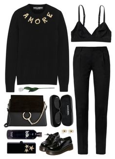 """""""Amore"""" by mywayoflife ❤ liked on Polyvore featuring Dolce&Gabbana, Monki, Laura Cole, Yves Saint Laurent, WithChic, Edie Parker, Marc by Marc Jacobs, Chanel, Chloé and women's clothing"""