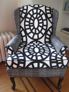 Love this print! Wingback Chair. $400.00, via Etsy.
