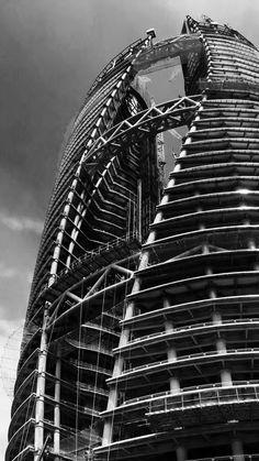 Stunning construction photos of Zaha Hadid Architects' Leeza SOHO tower and its record-setting atrium | News | Archinect