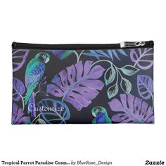 Tropical Parrot Paradise Cosmetics Bag