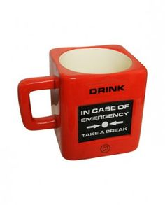 Mug o taza de café o té de emergencia