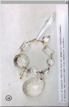 Bracelet made from chandelier crystal, Maison Martin Margiela Artisanal AW/05