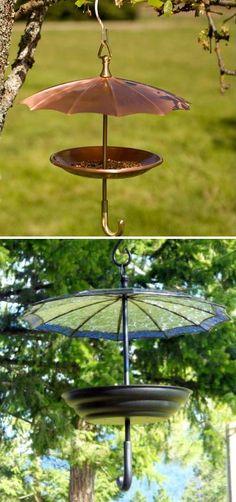 Umbrella birdfeeder (No DIY, just an idea)
