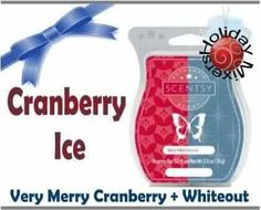 Scentsy Very Merry Cranberry + Whiteout = Cranberry Ice $5 Each, 3 for $14, 6 for $25
