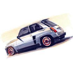 Renault 5 Turbo2 sketch...K