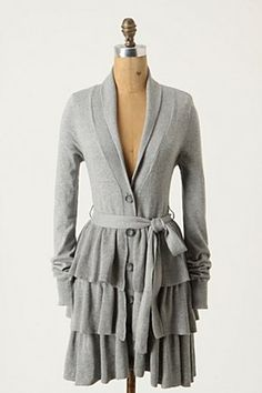 Anthropologie Petticoat Cardigan...i need a smaller butt and would totally wear this with leggings.