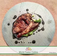 'Eating is a necessity, but cooking is an art' #lambsteak #broccolimash #honeysoysauce #worldfusioncuisine