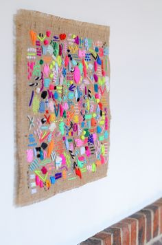 Wall Hangings for a Top Expressive Home wall hangings i stopping thinking about illustrator and textile artist elizabeth wall ZOIWJGN Embroidery Art, Embroidery Stitches, Art Projects, Sewing Projects, Brazilian Embroidery, Textile Artists, Illustrator, Fabric Art, Fabric Painting