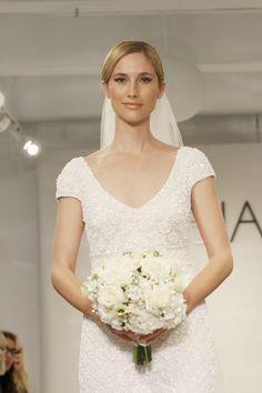cap sleeve theia white collection http://www.weddingchicks.com/2013/12/25/theia-white-fall-2014/