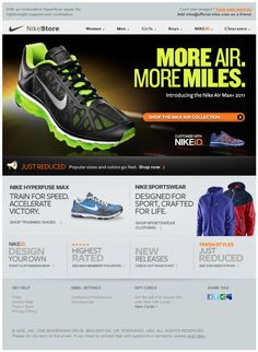 Nike email | email design | Pinterest | Email design and Email design  inspiration