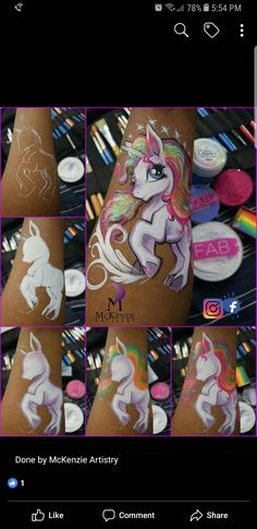 Face painting examples are very useful in the art of face painting. One of the greatest things about face painting examples, is that there are many reference Horse Face Paint, Face Painting Unicorn, Girl Face Painting, Face Painting Tips, Face Painting Tutorials, Unicorn Face, Face Painting Designs, Kids Makeup, Step By Step Painting