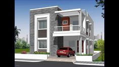 looking to buy residential independent house for sale in hyderabad? chandra shekhar residency is offering the best residential independent house for sale.Independent House Elevation Designs In Hyderabad Home - Independent House Front Elevation Photos 2 Storey House Design, Bungalow House Design, House Front Design, Small House Design, Cool House Designs, Modern Exterior House Designs, Modern House Design, Philippines House Design, Independent House