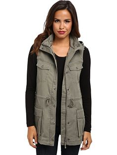 Jag Jeans relaxed fit vest with hood.