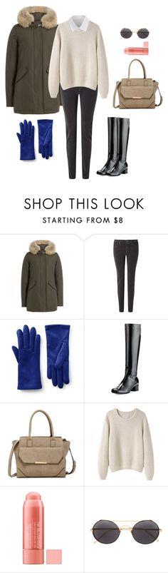 """how to wear thick anorak jacket?"" by yuri-writer on Polyvore featuring Woolrich, AG Adriano Goldschmied, Lands' End, Aquatalia by Marvin K., Urban Expressions, La Garçonne Moderne, Linda Farrow and Y's by Yohji Yamamoto"