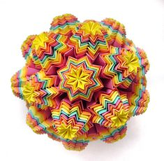 Rainbow Muffin in traditional kusudama technique by W.Rabbit.
