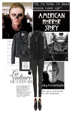 """""""American Horror Story"""" by bittersweet89 ❤ liked on Polyvore featuring By Zoé, Acne Studios, Burberry, Alice by Temperley, Loewe, MAC Cosmetics, Orelia and americanhorrorstory"""