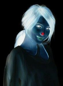 Stare at the red dot for 15 seconds then look at a blank wall or ceiling and blink really fast