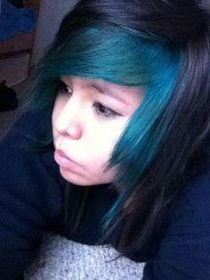 Bangs with Splat Aqua Rush Aqua Hair, Teal, Turquoise, Colored Hair, Shades Of Green, Bangs, Tiffany, Hair Color, Mint