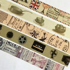 Washi Tape - Vintage, Kitchen, Country, Postage, Retro, Newspaper - For Planners, Scrapbooks, Crafts