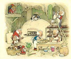 """Bild 05 * Fritz Baumgarten: """"Weihnachtsfest in Wichtelland"""" (""""Christmas in Wichtelland"""")"""