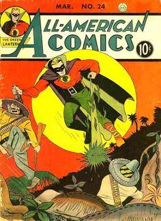 All-American Comics #24 (Mar '41) cover by Irwin Hasen. R.I.P. Mr. Hasen (1918-2015) #GreenLantern