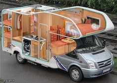 new Ideas campers life motorhome Auto Camping, Van Camping, Kombi Motorhome, Campervan, Bus Life, Camper Life, Camper Caravan, Truck Camper, Camper Trailers