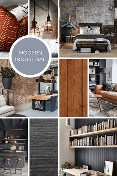 Interior Design Style: 6 Modern Styles and How to Use Them Modern Industrial Decor, Industrial Interior Design, Industrial Interiors, Interior Design Tips, Modern Interior Design, Home Design, Interior Styling, Modern Decor, Mid-century Modern