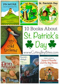 Books About St. Patricks Day and Ireland for kids.  Choices for toddlers, preschoolers, and elementary kids.  Brief reviews of each!