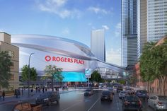 The design for Rogers Place and the ICE District creates an active new entertainment destination just north of downtown Edmonton. Architecture Visualization, Edmonton Oilers, Famous Singers, Come And See, Best Friends Forever, St Louis, Canada, City, Places