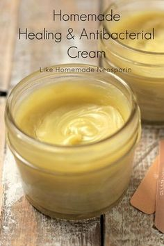 This homemade neosporin® is made with healing herbs– calendula and lavender. Moisture-rich and anti-bacterial oils like coconut and olive oil. With a few soothing drops of tea tree oil and lavender essential oil (also an anti-bacterial). Raw honey is also added to this powerful salve. A salve that's easy to make and free from toxins found in store-bought tubes.