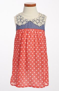 Jenna & Jessie Polka Dot Chiffon Dress (Toddler Girls) available at #Nordstrom